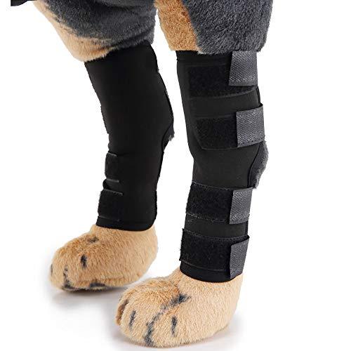 Samtlan Kniestütze Wraps 1 Paar Einstellbar Bandage Knieschützer Atem Schwarz Kniebandage für Hunde für Chihuahua Labrador Pudel