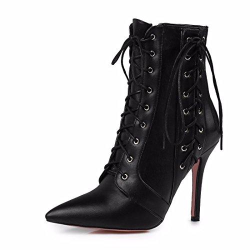 RFF-Women's Shoes Winter Stiefel Schuhe Größe Kreuz Armband Stiefel, Schwarz, 46 (Womens Elementen Klassischen)