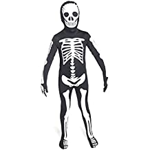 Morphsuits Halloween Glow in the Dark Skeleton LIMITED EDITION premium suit 8-9-10-11-12 yrs