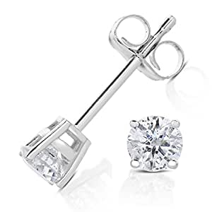 Vir Jewels 9ct White Gold 0.33ct Diamond Earrings IGI Certified