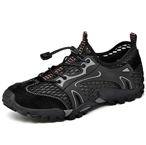 FGSJEJ Sports de Plein air Sandales Chaussures de Loisirs d'été Respirantes pour Hommes (Couleur : Noir, Taille : 40)