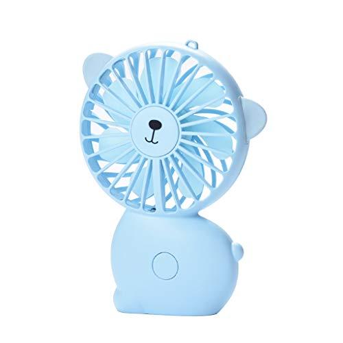 zarupeng✦‿✦ Ventilador portátil portátil recargable del gato del ventilador de enfriamiento accionado...