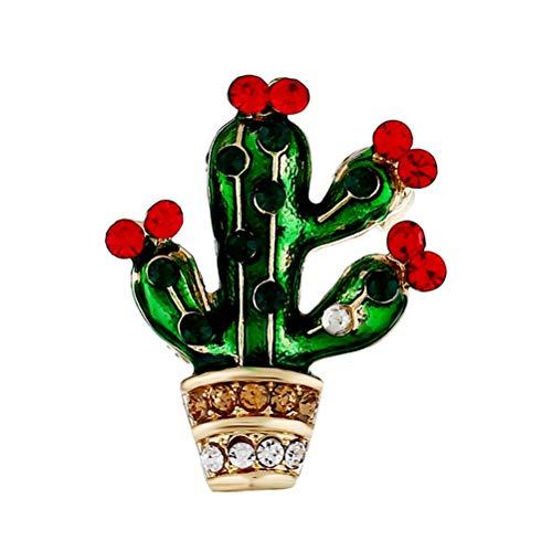 he Pins Strass Kristall Kaktus-Brosche mexikanische Fiesta Cinco de Mayo-Party Luau Hawaii Party begünstigt Tropische Party Supplies ()