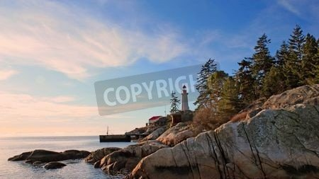 "Alu-Dibond-Bild 130 x 70 cm: ""Point Atkinson Lighthouse In West Vancouver"", Bild auf Alu-Dibond"