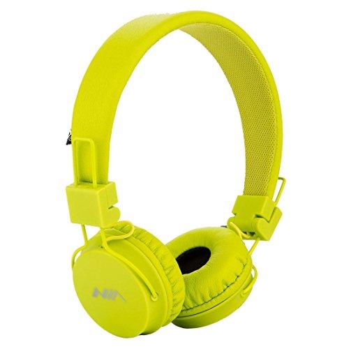 Termichy Wired Kinder Kopfhörer Faltbarer On-Ear Hifi Stereo Headset mit Inline-Control Abnehmbare 3,5mm Klinkenstecker Audio Kabel (Green) - 2