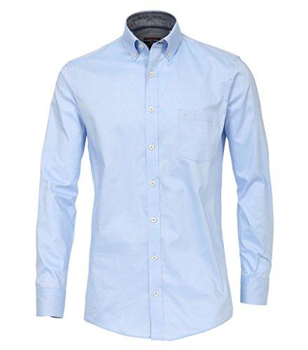 CASA Moda - Comfort Fit - Herren Oxford Hemd Uninah mit Button Down-Kragen in Blau und Weiß (482894600), Größe:XXL, Farbe:Blau (100) (Oxford-hemd Button-down-gestreiftes)