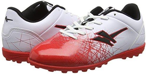 Gola Zeus VX  Boys Football Boots  White  White Red Black   4 UK  37 EU