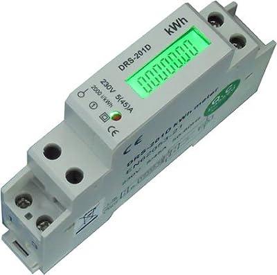 Lcd Wechselstromzhler Stromzhler Wattmeter 545a Fr Hutschiene Mit S0 Schnittstelle -drs154d- von B+G E-TECH