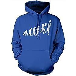 HotScamp Premium Evolution of Basketball - Sudadera con capucha para hombre, talla S, M, L, XL, XXL, varios colores azul azul real S