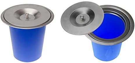 Onpira Edelstahl Einbau Abfalleimer Küchen Arbeitsplatte Mülleimer Abfallsammler (4,5L)