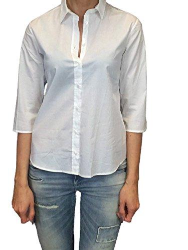 Milano Italy Damen Bluse 3/4 Arm Shirt weiss Weiß