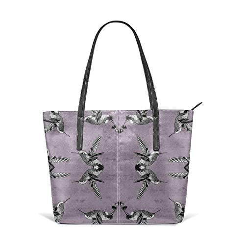 jhin Hummingbirds On Distressed Pink Fabric Satchel Purses and Handbags Handtaschen Leather Tote Bags Satchel Top Shoulder Leisure Handbags Handtaschen Office Briefcase Tote - Distressed Satchel