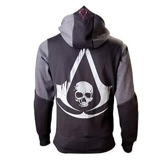 Bioworld EU Assassins Creed IV Black Flag sweater, Black(Black/ Grey), Large