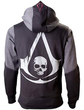 Assassins Creed 4 Hoodie -M-, Black Grey Character