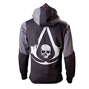 Bioworld EU Herren Assassins Creed 4 Hoodie, Schwarz-grau, S