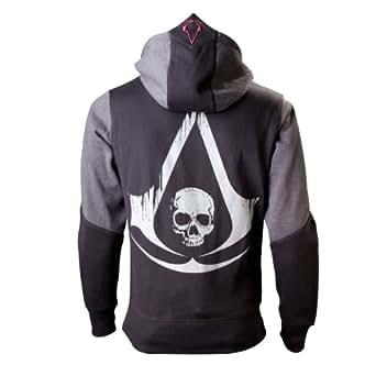 Assassin's Creed IV - Black Flag Skull Hooded zip black-grey S