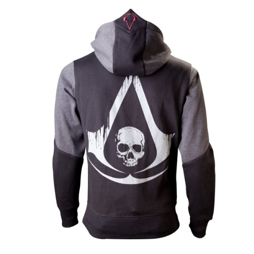 Assassins Creed 4 Hoodie -L-, Black Grey Character