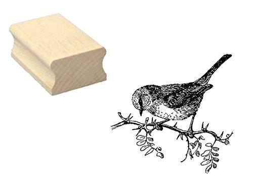 Stempel Holzstempel Motivstempel « SPATZ SPERLING » Scrapbooking - Embossing Basteln Ornithologe Vogel
