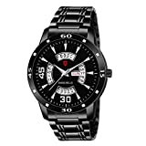 Svviss Bells Enticer MSB-001 Watch for Men - Luxury Sports Casual Quartz Chronograph Calender Day and Date Stainless Steel Band Black Color Stylish Latest Men's Wristwatch