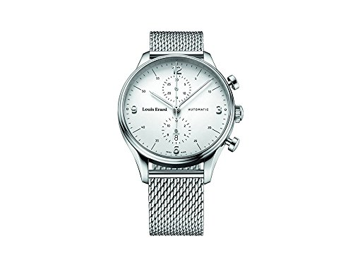 Louis Erard Héritage Classic Automatic Watch, Chronograph, Silver, Day