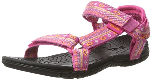 Teva Mädchen Hurricane 3 C's Sandalen Trekking-& Wanderschuhe, Pink (Hippie Pink/Tangerine), 35 EU