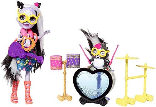 Enchantimals FRH41 - Schlagzeugrocker Sage Skunk Puppe und Caper