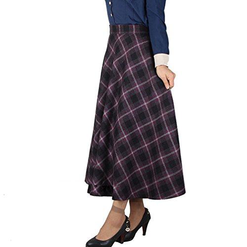 NiSeng Falda Larga Mujer Cintura Elástica Talla Grande