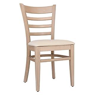 abritus 2er-Set Stühle Stuhl Esszimmerstuhl Buche Natur gepolstert Creme »T001«