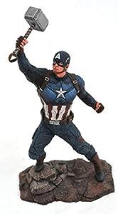 Marvel Avengers Endgame Captain America PVC Figura, Multicolor (Diamond Select Toys JUL192669)