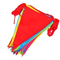 TaleeMall 50 Metres Multicolor Bunting Banner 75 Large Flags Double Sided Material Indoor Outdoor Party Decoration