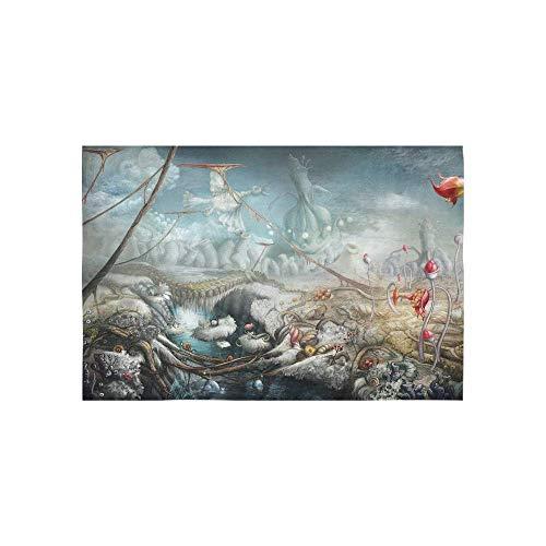 Alfreen Tapisserie, Kunst-Dekor, Halloween-Nacht-Hintergrund mit drei Kürbissen und Wandteppichen, Wandbehang mit Blumen, Psychedelic Wandbehang, indisches Schlafsaal Dekor für Wohnzimmer Schlafzimmer