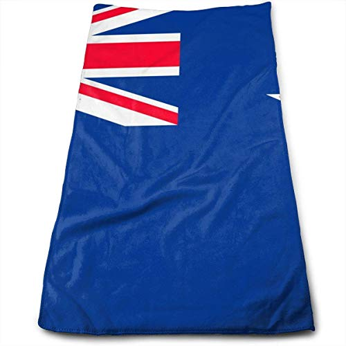 Osmykqe Flag of New Zealand Cotton Bath Towels for Hotel-Spa-Pool-Gym-Bathroom - Eisen, Den Um Motorrad-club