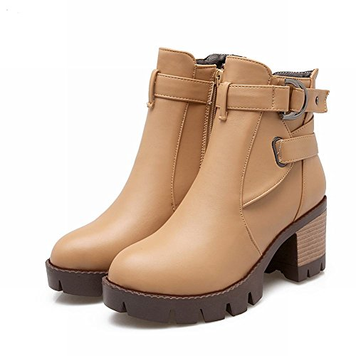 MissSaSa DONNA CASUAL BOOTS beige cachi