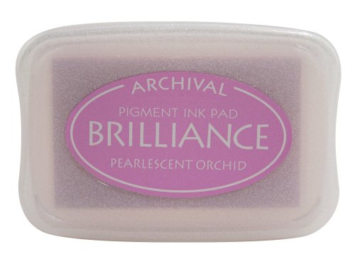 Pigment Red Ink (Brilliance Pigment Ink Pad-Pearlescent Orchid)