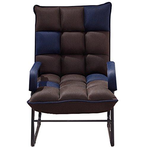 SjYsXm- Liegen Komfortable Relax Chair Lounge Chair Erwachsener älterer Stuhl Easy Chair Nickerchen Stuhl Lazy Chair Verstellbarer Sessel Einzelner, gemütlicher Liegestuhl mit gepolstertem Kissen - Easy Lounge Chair