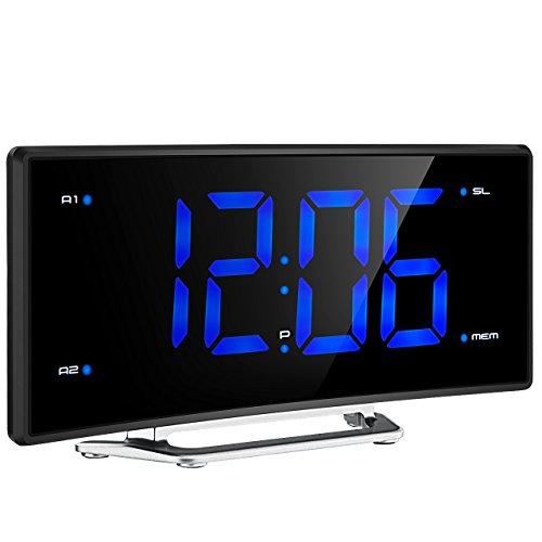 Projektionswecker, TopElek FM Radiowecker / Radiowecker mit Projektion / Uhrenradio / digitaler Wecker, Dual-Alarm mit USB-Ladeanschluss, Snooze Funktion, Einschlaffunktion, 2-Zoll große LED-Anzeige mit Dimmer, 12/24-Stunden, Datensicherung mit Batterie am Stromausfall.