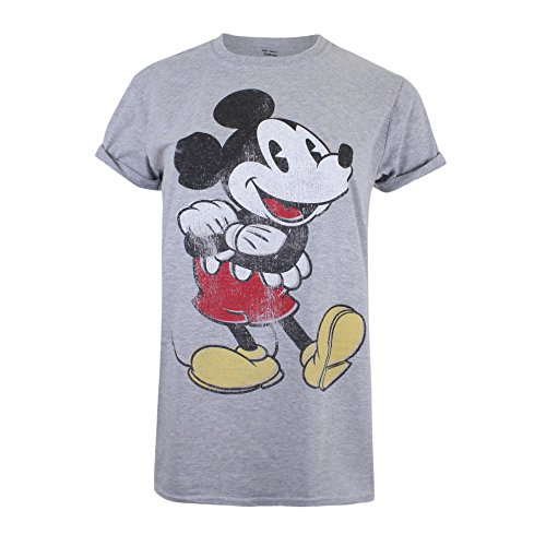 Disney Damen Mickey Mouse Vintage T-Shirt, Grau (Sport Grey SPO), 42 (Hersteller Größe:X-Large) -