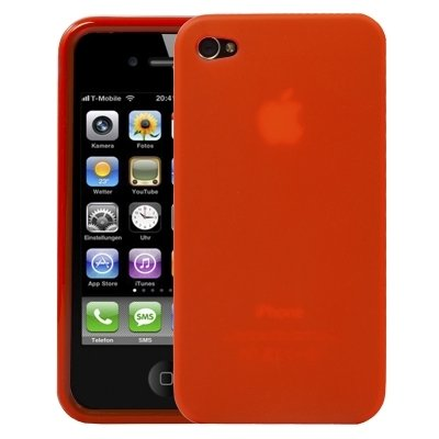 Logotrans Glossy Series Silikon Schutzhülle für Apple iPhone 4 lila Rot