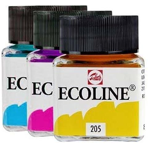 Ecoline Talens - Acuarela líquida, color azul
