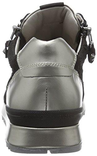 Kennel und Schmenger Schuhmanufaktur Damen Runner-41-18220 Sneakers Mehrfarbig (schwarz/ivory Sohle ivory 350)