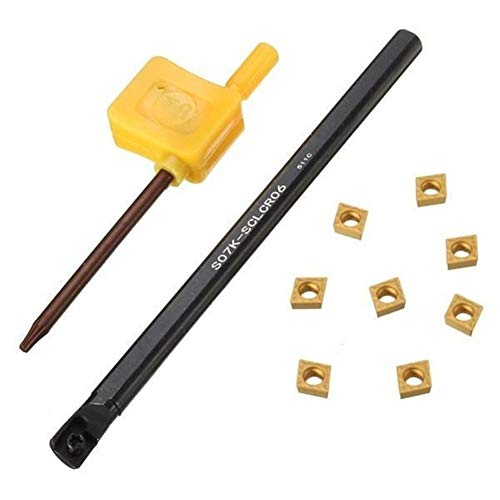 Be82aene S07K-SCLCR06 Drehwerkzeug-Halter mit CCMT0602 Einsätze und Wrench 8pcs Praktisch und
