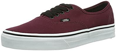 Vans U Authentic - Baskets Mode Mixte Adulte, Bordeaux (Port Royale/Black), 34.5