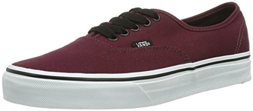 Vans - U Authentic - Baskets Basses - Mixte Adulte - Rouge (Port Royale/Black) - 38 EU