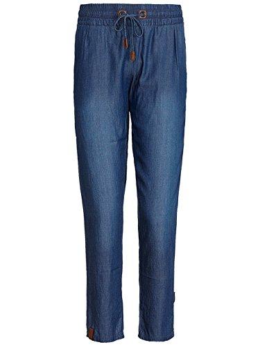 Capri Jeans Leggings mit Bändchen und Strassnieten kurze Leggings