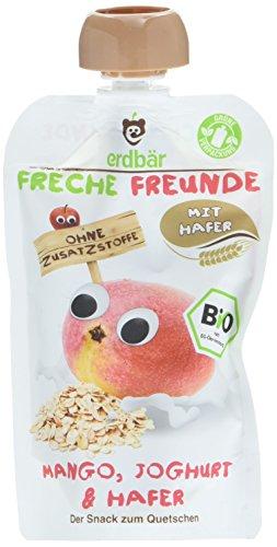 """Preisvergleich Produktbild Freche Freunde Bio Quetschie """"Mango,  Joghurt & Hafer"""",  ohne Zuckerzusatz,  Babybrei mit Joghurt & Hafer,  Fruchtmus für Babys ab 1 Jahr,  6er Pack (6 x 100 g)"""
