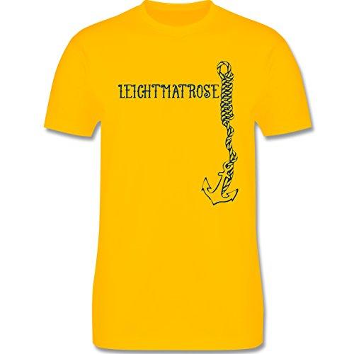 JGA Junggesellenabschied - Leichtmatrose Anker - Herren Premium T-Shirt Gelb