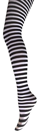 mysasi-london-ladies-striped-tights-9-colours-available-medium-black-and-white