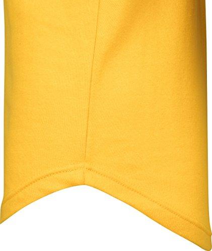 Urban Classics Herren Kapuzenpullover Long Shaped Terry Hoodie, leichter Streetwear Kapuzensweater, lang geschnitten, einfarbig chrome yellow