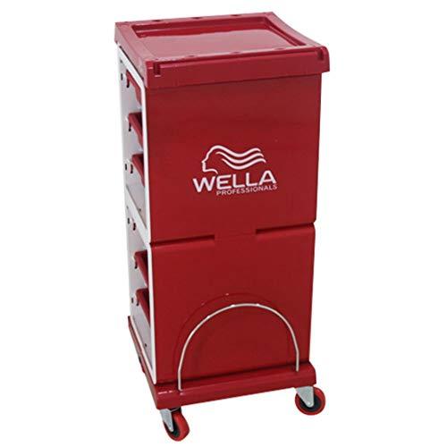 Gehobene Friseur-Trolley-Salon-Warenkorb Tablett Trolley Friseur-Speicher Wagen Beauty Barber Storage Hair Spa Rolling Cart Färbung Schubladen -