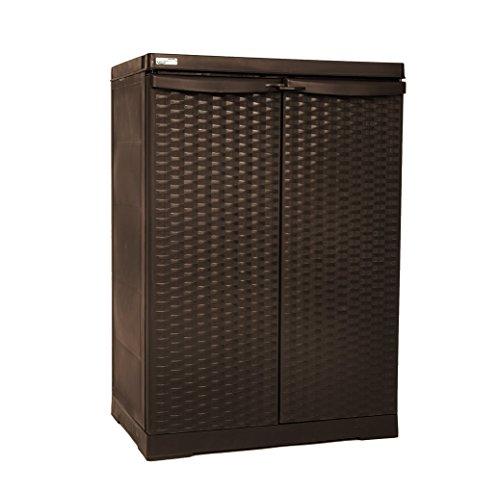 Preisvergleich Produktbild Linea RattanRegalschrank, Möbellinie mit kompakten Sets für jeden Bedarf im Haus und Draußen, erfüllt höchste Ansprüche bei Preis und Qualität des Produkts.